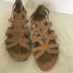 Elaine Turner Cork Sandals / Size 9